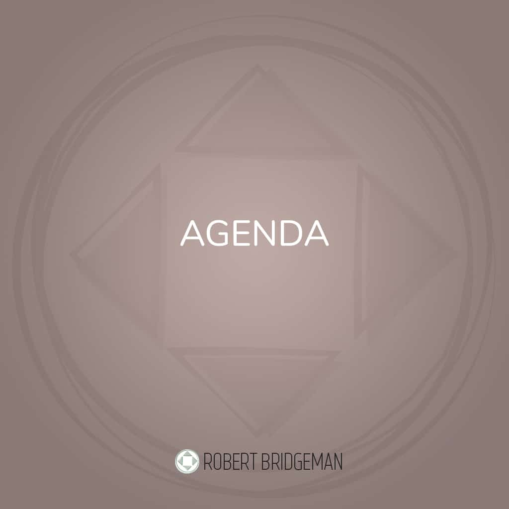 Agenda Robert Bridgeman